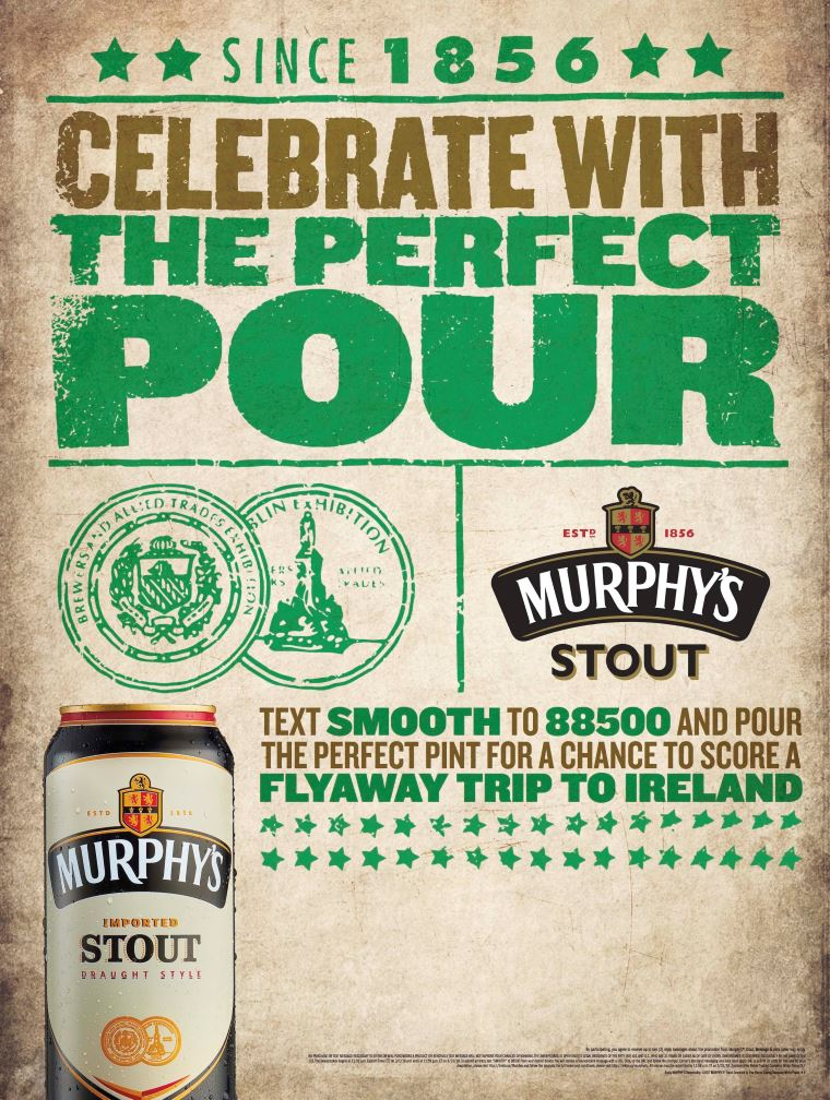 Murphy's Stout Launches Perfect Pour St. Patrick's Day Marketing Program