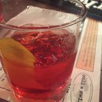 A Negroni cocktail at Bull & Swine in New Haven.