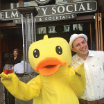 Ryan Howard, Managing Partner, Elm City Social with the Elm City Social Rubber Duck mascot.