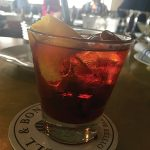 A Negroni cocktail at Shell & Bones Oyster Bar and Grill in New Haven.