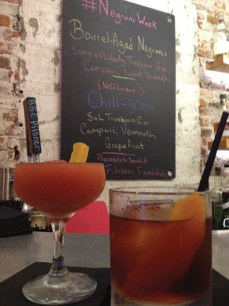 A sampling of cocktails served at New Harvest Coffee & Spirits in Providence.