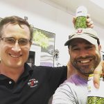 Derek Luke, Owner and Brewmaster, Newport Storm Brewery with Beer Enthusiast Matt Langlois at Crestwood Liquors in Coventry on June 23.