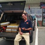 Pete Lanouette of Newport Storm Brewery at Bristol Liquors in Bristol on June 23.