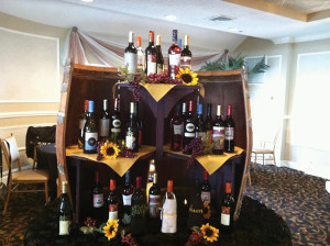 "The ""Wall of Wine"" wine, a silent auction prize."