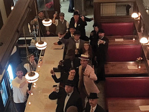Opici Family Distributing managers and sales representatives at Roia Restaurant and Café in New Haven for Repeal Day celebrations.