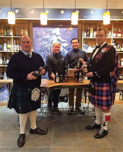 Scott Randall, Vice President of Sales, Opici Family Distributing; Karl Ronne, Owner, The Wine Thief; T.J. Gallagher, Manager, The Wine Thief; and Sean Oakley, Terlato Artisan Spirits.