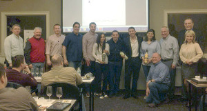 All salespeople with Allan S. Goodman's Century Division except where noted: Steve Merritt; Joe Amato; Chris Yorzinski; Peter Menounos; Ben Danegger; Rosie Hin; Angelo Mastrodomenico, Peel Co-Founder; Gianfranco DiDomenico, Peel Co-Founder; Dana Witzak; Morgan Marshall (kneeling); Craig Nass; Amy Cholawa, Director of Sales & Marketing, Peel; Frank Magnoli, Sales, Peel.