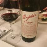 Penfolds Grange 2011 wine sample.