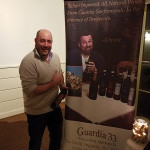 Michael Fino, Owner, Twisted Vine Fine Wine & Spirits in Fairfield during the charitable tasting for the Caroline House.