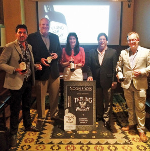Noah King-Smith, Spirits Manager, Slocum & Sons; John Slocum, Executive VP & General Manager, Slocum & Sons; Wendy Eber, President, Slocum & Sons; Greg Crakow, Northeast Regional VP, Infinium Spirits; and Alex Meier-Tomkins, Spirits Manager, Slocum & Sons.