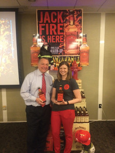 Tom Kachmarck, CT State Manager, Brown-Forman and Audrey Sanders, CT Market Manager, Brown-Forman.