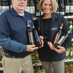 Amity Wines and Spirits' Tom Purcell, Wine Manager and Lisa Katz, Customer Service on January 27, 2016.