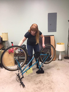 Project Broken Wheel volunteers prepared bikes for the upcoming holiday drive.