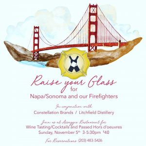 Raise Your Glass for Napa/Firefighters @ Assaggio of Branford