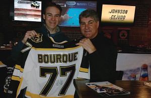 Bob Buonaccorsi, Sales, Horizon Beverage, Copley Division with Ray Bourque.