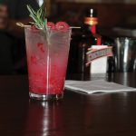 Fitzgerald created the Cointreau Rasp-Rickey, using 2 oz. Cointreau, 1 oz. lime juice, 6 raspberries, 1 rosemary sprig, and soda to fill the glass.