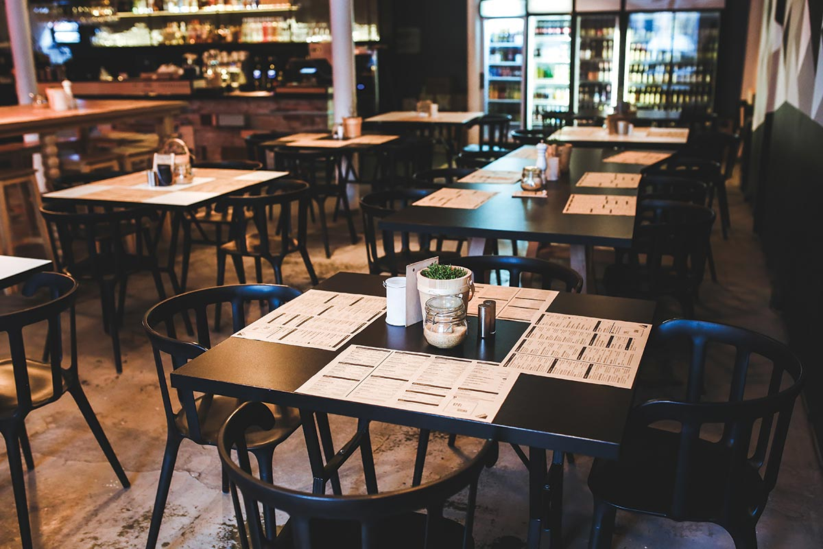 Restaurant Sales Stall in Winter