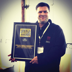"""Sons of Liberty's Hop Flavored Whiskey won """"Best Flavored Whiskey in North America"""""""