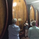 The group during a tour at Marchesi di Barolo wine cellar in the DOCG of Barolo in Piedmont.