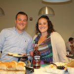 Tim Boynton and Jody Vento, both Sales, Rhode Island Distributing Company, during the lunch.