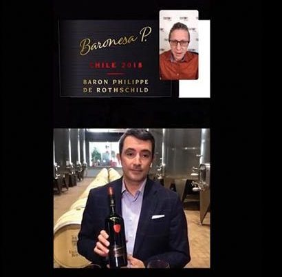 Monsieur Touton Livestreams Chilean Wine Education