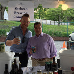 James Petersen and George Carabetta from Cellar Fine Wines pouring Shebeen Brewing selections at RiverFare.