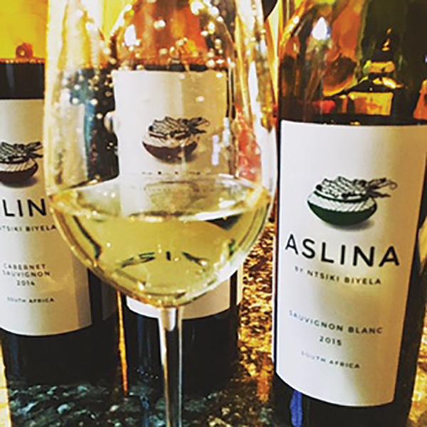 Aslina Wines by Ntsiki Biyela include Sauvignon Blanc, Chardonnay and Cabernet Sauvignon.
