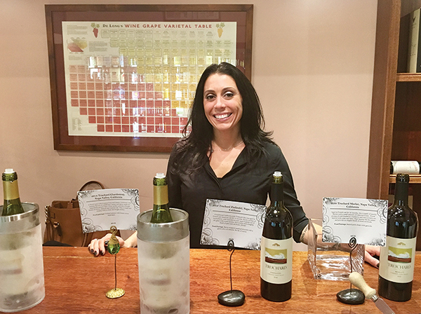 Danielle Pailiotta, Sales Associate, during an in-store tasting at The Savory Grape in November.