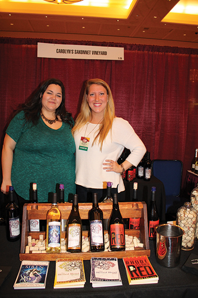 Rachel Brooks, Senior Events Coordinator and Jessica Walsh, Social Media and Marketing Coordinator of Carolyn's Sakonnet Vineyard of Little Compton, Rhode Island.