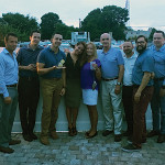 Members of the M.S. Walker sales team during the Blue Chair Bay Rum event: Owen Thorpe, Sean Whittle, Matt Supinski, Melinda Aguiar, Christine Langford, Alan Babb, Ryan Lavoie, David Montoya and Joseph Brennan.