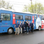 The Salute American Vodka Hero RV stopped in North Haven, Wallingford and Fairfield as part of its national launch tour. Scott Sweitzer; Ryan Dunne, Salute American Vodka Sales Representative; Lieutenant General (Retired) Ray Palumbo; NFL Super Bowl Champion and Media Personality Tony Siragusa; Michael Lutz, Salute American Vodka Operations Manager; and Bill Shea.