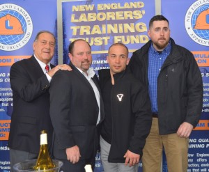 Charles LeConche, Business Manager, New England Laborers-Connecticut District Council; Stephen Snipes, New England Laborers; Justin Hong, Placement, Helmets to Hardhats; Travis O'Hanlon, Placement, Helmets to Hardhats.
