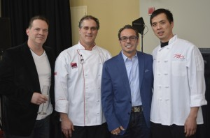Bill Reardon, Executive Chef, Vivo Downtown; Franck Iglesias, Executive Pastry Chef, Foxwoods Resort; Billy Grant, Owner, Grant's & Bricco Restaurants; and John Chen, Owner Feng Asian Bistro.