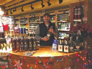 Saxtons River Distillery's Marketing Manager Drew Kacik at Stew Leonard's in Newington.