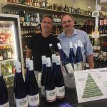 Dave Galanto, Owner, Paradise Wine & Spirits in Old Saybrook with Michael Schlink.