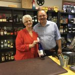 Cindy Cote, Owner, Cindy's Wine & Spirits and Michael Schlink, Schlink Haus at Cindy's Wine & Spirits in Westbrook.