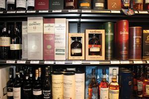 scotch whisky shelf