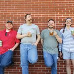 Shebeen Brewing Company's Justin Vale, Brand Ambassador; Jon MacDonald, Fulfillment Manager; Nick Renna, Taproom Manager; and Alyssa Dombroski, Marketing and Events Coordinator.