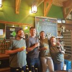 All from Shebeen Brewing Company during its Fourth Anniversary Fiesta on May 6. Nick Renna, Taproom Manager; Shane Lawrence, Taproom Staff; Alyssa Dombroski, Marketing and Events Coordinator; and Cory Lowry, Taproom Staff.