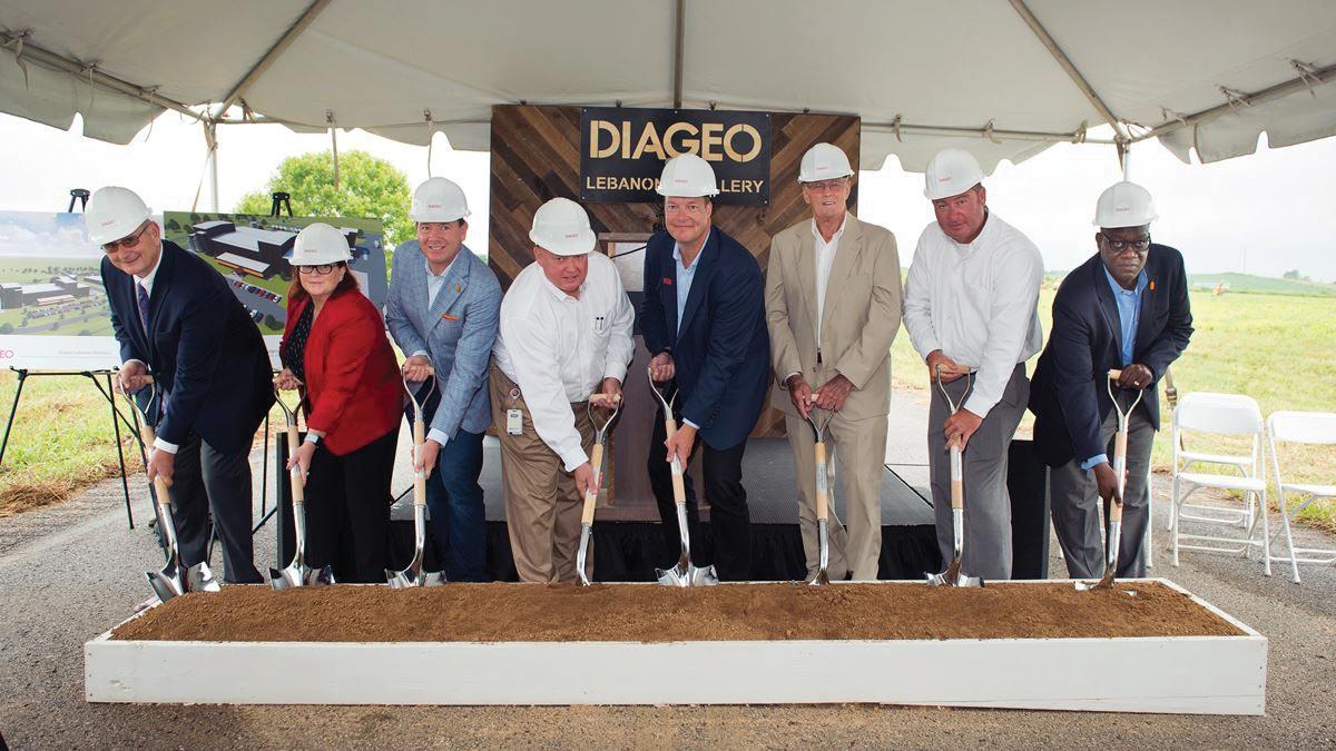 Diageo Breaks Ground on New Kentucky Distillery