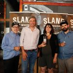 Frank Martucci, Director of Beverage Operations, Twin River Casino; Alex Conyngham, Owner, Slane Irish Whiskey; Jen Davis, President, USBG RI; Ben Terry, Treasurer, USBG RI.