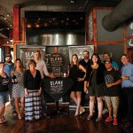 Kristine Dunphy, USBG RI Chapter Member; Ben Terry, Treasurer, USBG RI; Kristen Cubicciotti, Market Manager MA/RI, Brown-Forman; Thomas Dellanno, Twin River Casino; Alex Conyngham, Owner, Slane Irish Whiskey; Jessica Kelly, Team Whiskey Boston, Brown-Forman Brand Champion; Phil Stafford, USBG RI, Chapter Member; Jen Davis, President, USBG RI; Marco Meza, USBG RI Chapter Member and Bartender, The Black Sheep; Thomas Dellanno, Twin River Casino; Frank Martucci, Director of Beverage Operations, Twin River Casino.