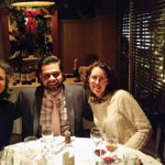 Kat Cassidy, Della Terra Wines; Emanuela Stucchi, Owner and Managing Partner, Badia a Coltibuono; and G. Pate, Avon Bottle Shop, during the wine dinner.