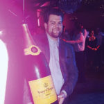 Phil Chabot, Owner and General Manager, Farmington Gardens, holding the 15-liter bottle of Veuve Clicquot, which was poured for the midnight toast on New Year's Eve.