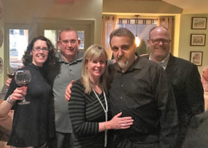 Kate Cassidy, Northeast Regional Manager, Della Terra Wines; William Miller, Proprietor, Harry's Wine and Liquor Market; Mary and Andre Iodice, Owners, Finalmente Trattoria; and Paul Burne, Key Account Manager, Slocum & Sons.