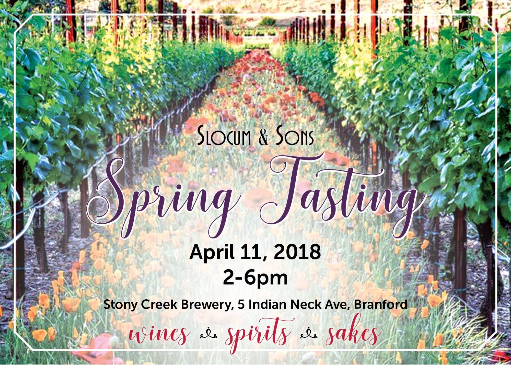 April 11, 2018: Slocum & Sons Spring Tasting (Trade Only)