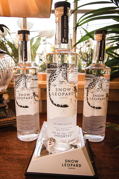 Snow Leopard Vodka.