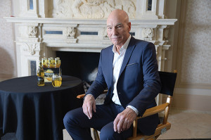 Sir Patrick Stewart stars in Strongbow Hard Ciders television commercials.