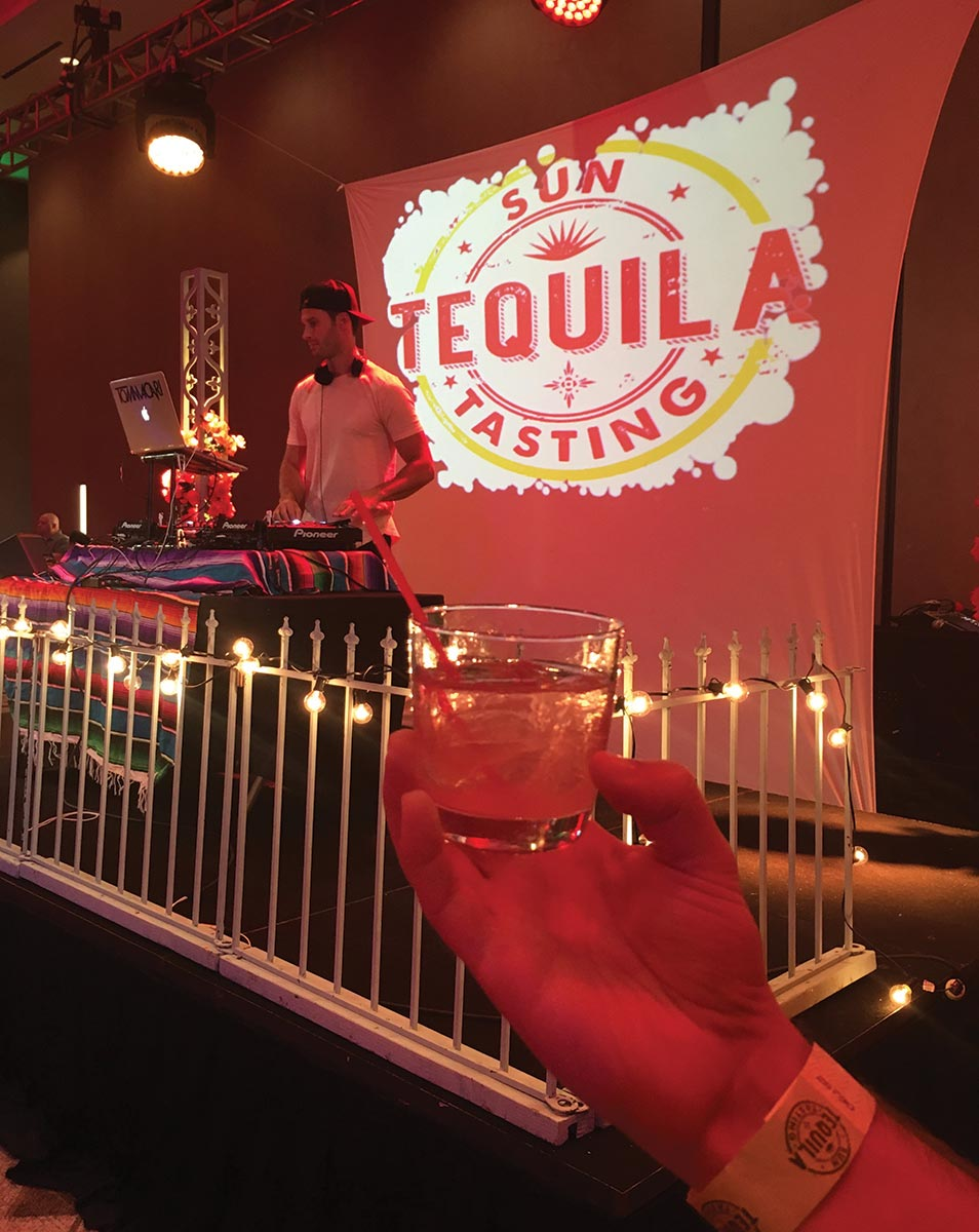 Sun Tequila Tasting Pours for Second Year