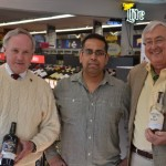 Ty Nicholson, Store Manager and Wine Director, Empire Wine and Liquor; Hemant Sujan, Owner, Empire Wine and Liquor; Piper Thurrott, Sales Representative, Slocum & Sons.